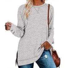 GULE-Tops informales de manga larga para mujer, Tops abiertos, camisa tipo túnica frontal elegante