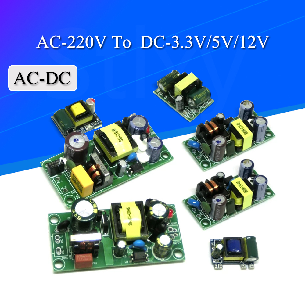 AC-DC 3.3V/5V/12V Precision Buck Converter AC 220v to 5v DC step down Transformer power supply module 1A 12W