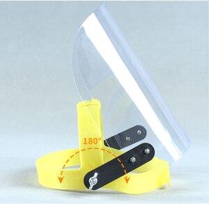 Image 2 - Proteção protetora do trato respiratório da máscara protetora da prova de poeira do respingo da saliva das viseiras sobresselentes da tela do protetor da máscara protetora da cara da segurança do pc