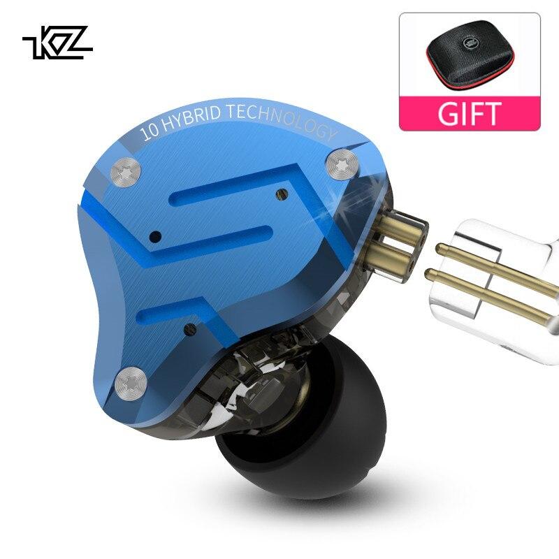 New KZ ZS10 PRO Metal Headset 4BA 1DD Hybrid 10 Units HIFI Bass Earbuds In Ear