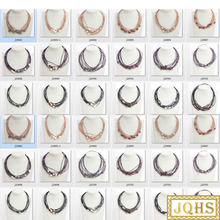wholesale 10 piece 11mm white pink black gray wine red coffee pearls leather necklace j10714-4(China)