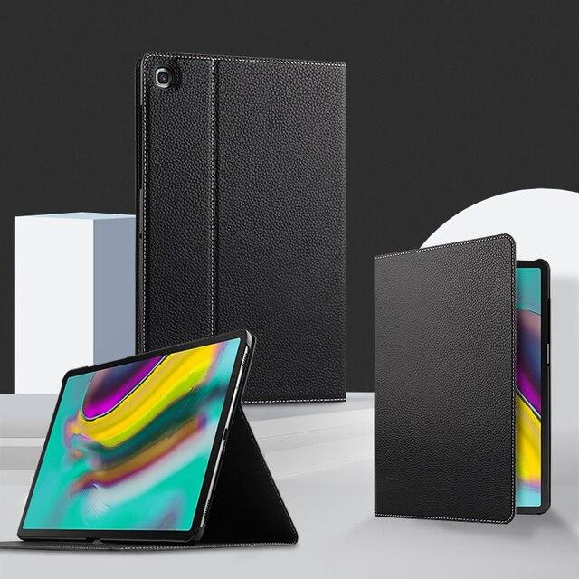 Étui de protection en cuir véritable pour tablette, pour Samsung Galaxy Tab S5E 10.5 T720 T725 SM T720, SM T725, 10.5 pouces