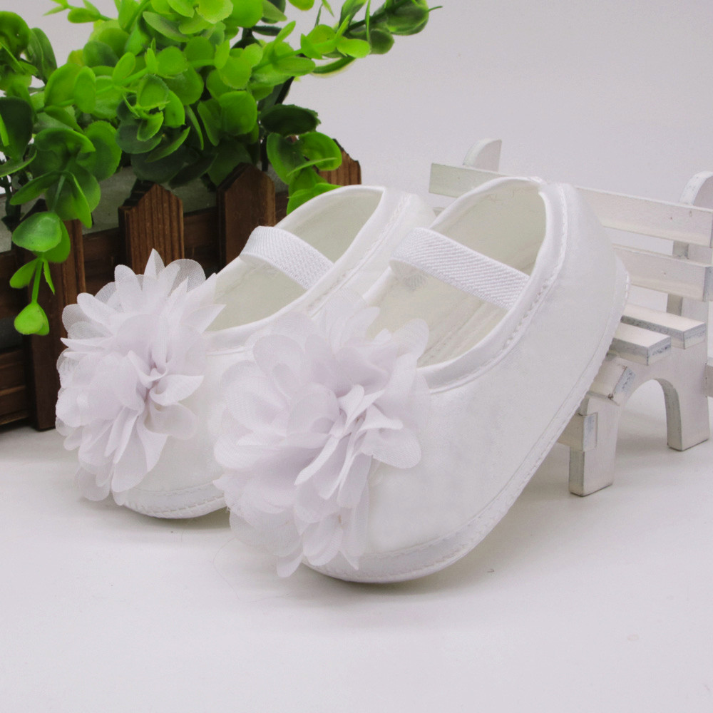 Baby Shoes Girls Toddler Baby Girl Chiffon Flower Elastic Prewalkers Band Newborn Walking Shoes Buty Dziewczynka HOOLER