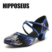 Women Shoes for Dancing Ladies Latin Dance Shoes Professional Girls Ballroom Salsa Dance Shoes 4.5/6/7.5/8.5/10cm Heels Sneakers