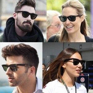 Image 4 - Gafas de sol con lentes de cristal para hombre y mujer, lentes de sol unisex con diseño Vintage, adecuadas para conducir, gafas para nadar reflectantes, cuadradas y elegantes