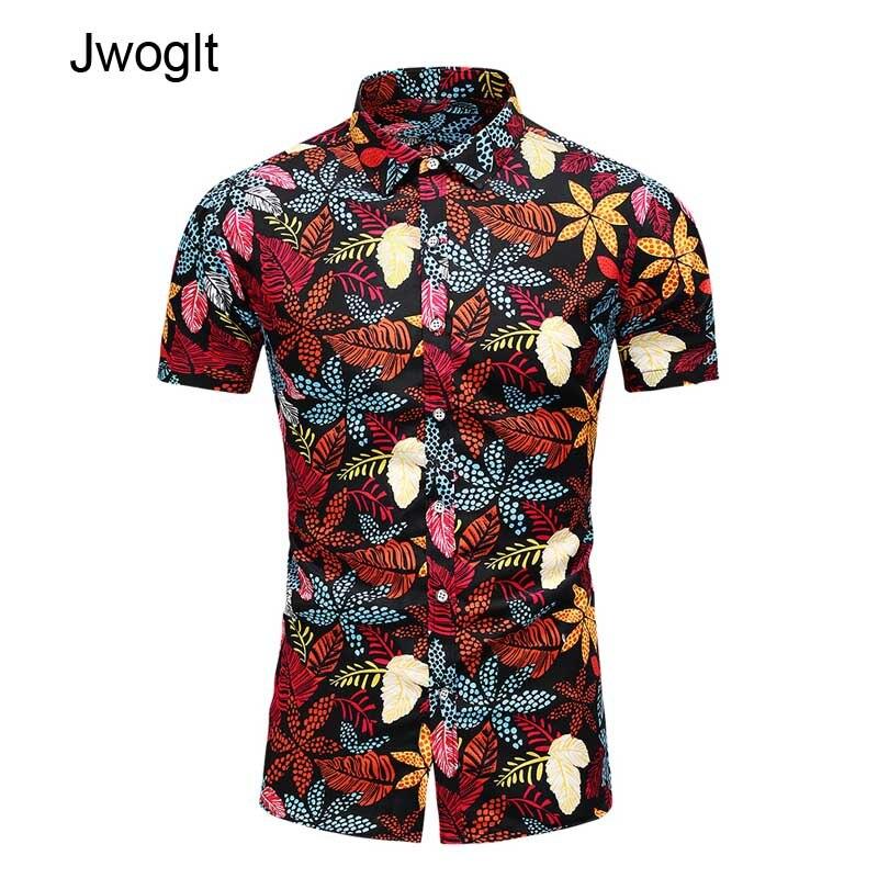 45KG-120KG Summer Men's Tropical Hawaiian Shirt Casual Button Down Short Sleeve Black White Printed Shirts 5XL 6XL 7XL