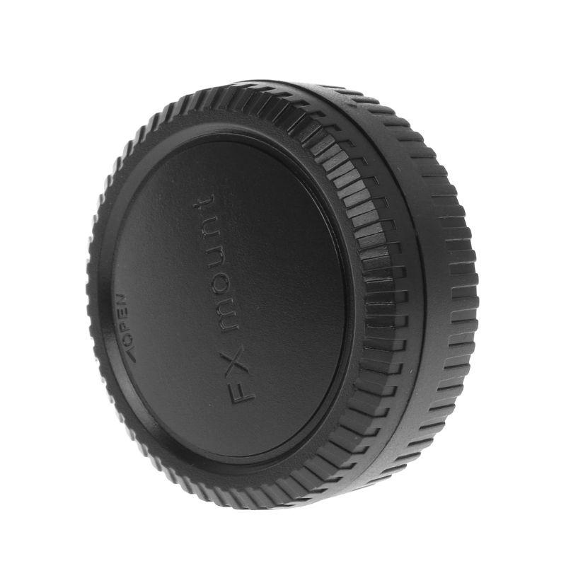 Задняя крышка для объектива камеры, защита от пыли, пластиковая черная крышка для Fuji Fujifilm FX X Mount