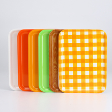Tableware Rectangular Tray Plastic Tray Household Tray Food Snack Bread Tray Fruit Plate