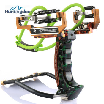 Archery Slingbow Fishing Slingshot Kit  Hunting Fish Folding Professional Adjustable Shooting with Arrow Rest Rubber Band