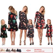 Mamá e hija vestido completo Navidad pjs 2019nueva familia otoño ropa a juego pijamas de Navidad vestidos ropa de Navidad
