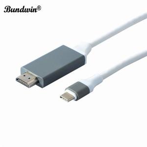 Image 5 - Bundwin Typ C USB 3,1 zu HDMI Kabel 4K 2m USB C zu HDMI HDTV Kabel Konverter Adapter für galaxy S8 für Huawei Mate 10 Pro P20