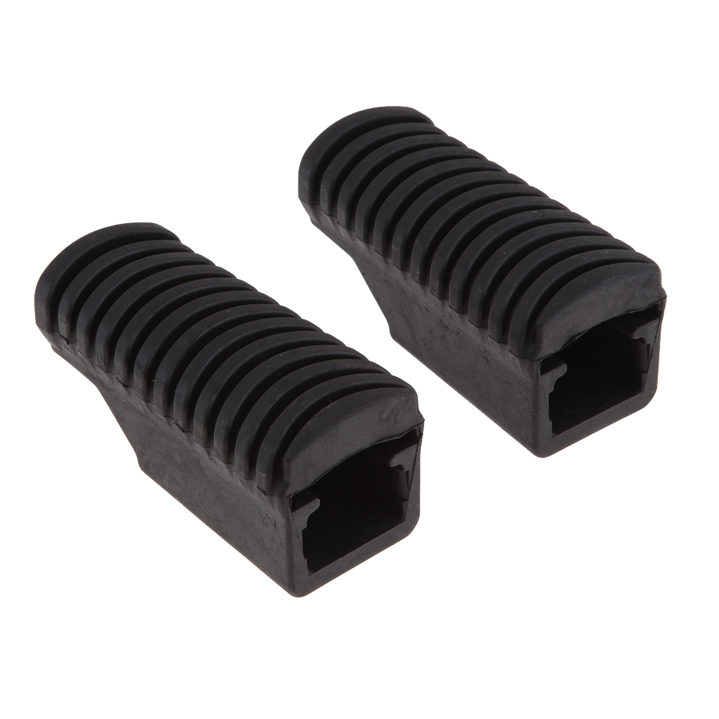 2Pcs Motorcycle Rear Footpegs Footrest Rubber Pad Cover Plate For BMW F800GS