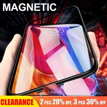 [Clearance]For Xiaomi Pocophone F1 Magnetic Case Protective Magnet Adsoeption Metal Cover Luxury Tempered Glass Case For Poco F1 for xiaomi pocophone f1 case slim skin matte cover for xiaomi f1 pocophone f1 case xiomi hard frosted cover xiaomi poco f1 case