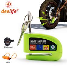 Deelife tarcza do motocykla kłódka do motocykla skuter motocyklowy wodoodporny 130dB Alarm antykradzieżowy tanie tanio CN (pochodzenie) 5 6cm 8 2cm Zinc Alloy Z zabezpieczeniem przeciwkradzieżowym 0 58kg BY6G Y3G Disc Brake Lock for Motorcycle