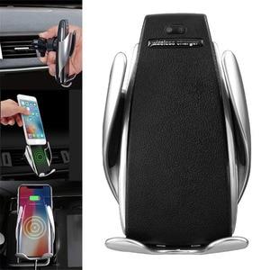 Image 2 - 360 ° לסובב טעינה אלחוטי מטען לרכב IR אוטומטי רכב טלפון מחזיק אוויר Vent יניקה טלפון הר Bracket עבור טלפון אנדרואיד