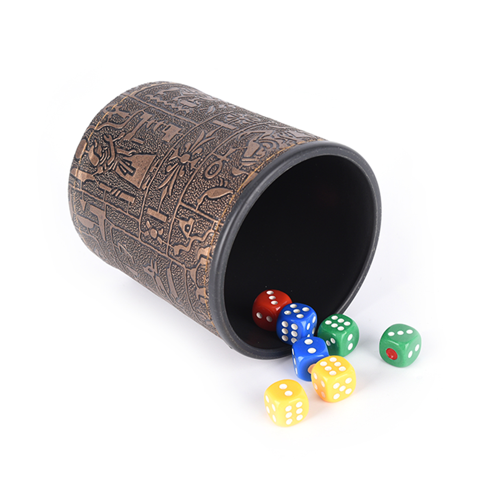 2021 Plastic Dice Cup Set Without Lid KTV Bar Gambling Casino Texas Poker Game Printing Manual Dice Cup
