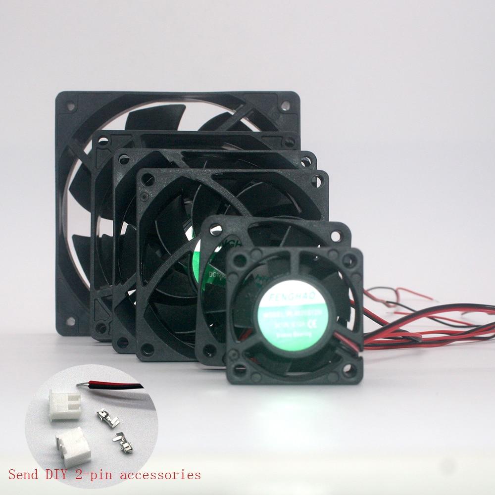 Кулер принтер вентилятор 4020 5010 7015 8025 9225 12025 40 мм 50 мм 70 мм 80 мм 92 мм 120MM40x40x20 2 провода магнитный подшипник вентилятор охлаждения Выключатели      АлиЭкспресс