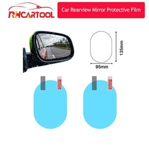 2Pcs Car Rear Mirror Protective Film Anti Fog Window Clear Rainproof Rear View Mirror Protective Soft Film Auto Accessories
