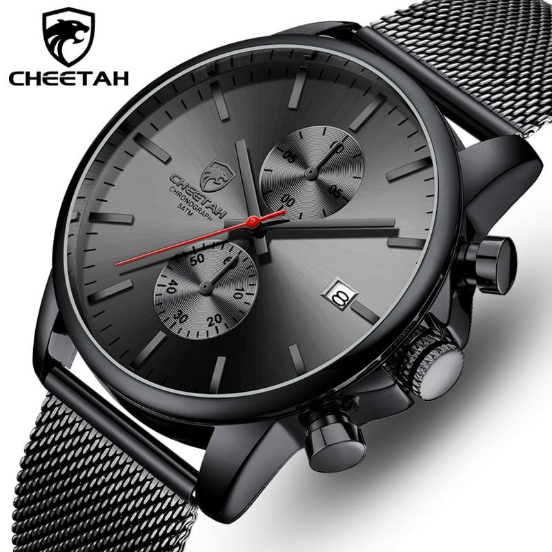 CHEETAH – montre de sport pour hommes, marque de luxe, décontractée, en acier inoxydable, étanche, analogique, à Quartz   AliExpress