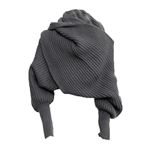Women Knitted Sweater Tops Scarf with Sleeve Wrap Winter War