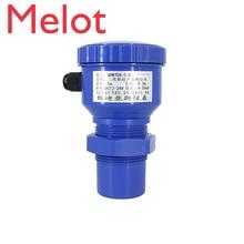 цена на High quality Ultrasonic digital level meter tank liquid transmitter ultrasonic level sensor