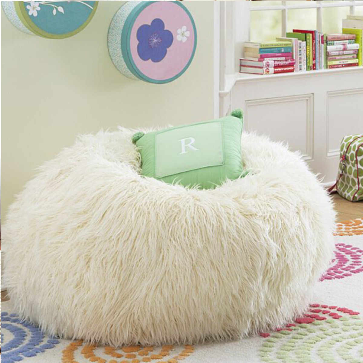 Living Room Furniture Bean Bag Cover Plush Large Sofa Chair Filling Bag Lounger Photography props Without Filler Pouf Puff Bean