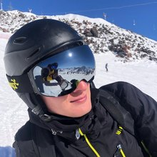 Ski-Goggles Case-Set COPOZZ Magnetic Anti-Fog Women 100%Uv400-Protection with Quick-Change-Lens