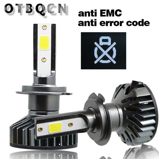 Otbqcn ミニ車のヘッドライト canbus H7 H4 led 3000 18k 4300 18k 6500 18k 8000 18k H1 H11 H8 9005 9006 H3 ヘッドランプ led 電球自動フォグランプ 12 v