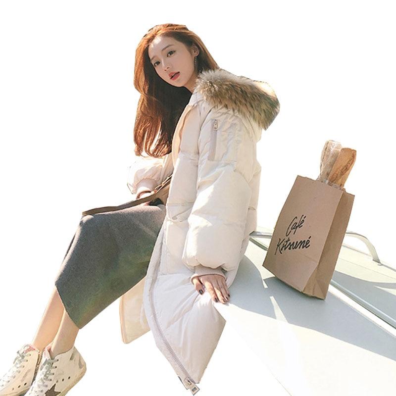 2019 New Autumn Winter Medium Length Women Parka Warm Outwear Coats Jackets Solid Zipper Thickening Female Fashion Cotton