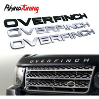 Overfinch Letters Stickers Badge Car Styling Emblem Auto Trunk Bonnet Sticker For Ranger Rover Land Rover Decals