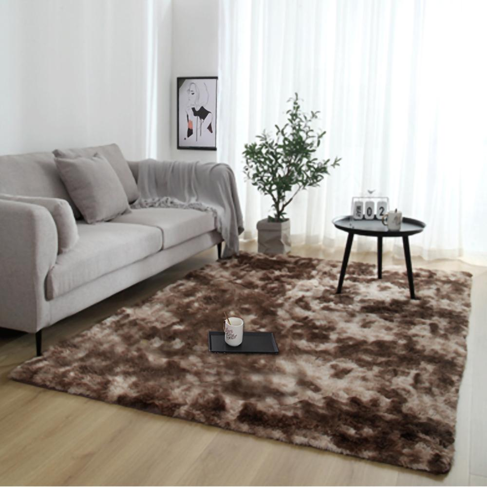 Carpet Large Fluffy Rugs Non-slip Shaggy Area Rug Floor Mat Home Bedroom Supplies 80x120cm