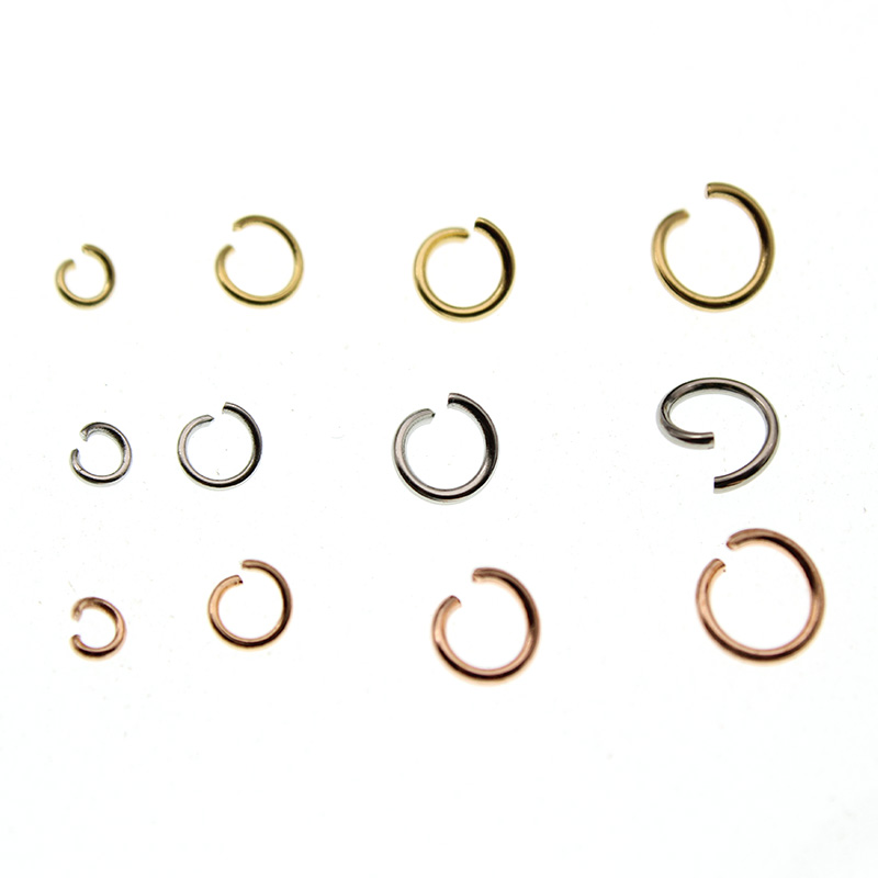 100pcs <font><b>3</b></font> 4 5 6 7 <font><b>mm</b></font> Stainless Steel DIY Jewelry Findings Open Single Loops Jump <font><b>Rings</b></font> & Split <font><b>Ring</b></font> Connector for Jewelry Making image