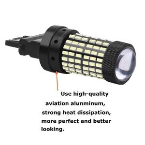 Image 4 - 1156 BA15S P21W 1157 BAY15D P21/5W 3157 3156 T20 7443 W21/5W 7440 W21W BAU15S 144 Led ampul araba fren lambası otomatik ters lamba