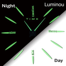 2020 New Luminous Wall Clocks Large Acrylic Mirror