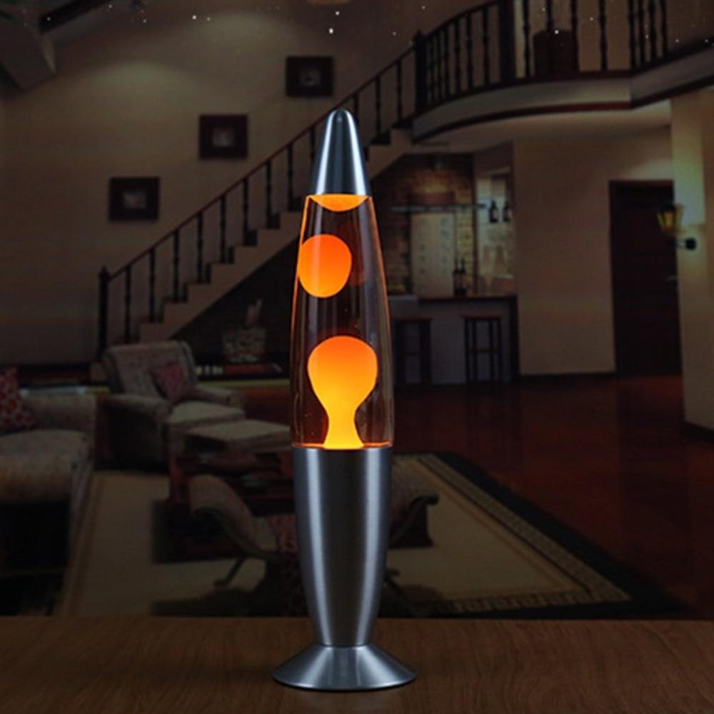 Metal Base Lava Lamp Wax Volcano Style Night Light Jellyfish Nightlight Glare Incandescent Lava Lighting Lamps Dropshipping