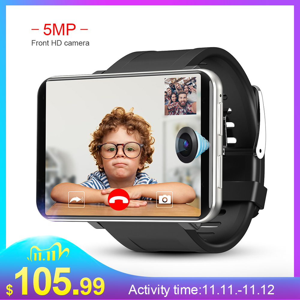 LEMFO LEM T 4G 2 86 Inch Screen Smart Watch Android 7 1 3GB 32GB 5MP Camera 480 640 Resolution 2700mah Battery Smartwatch Men