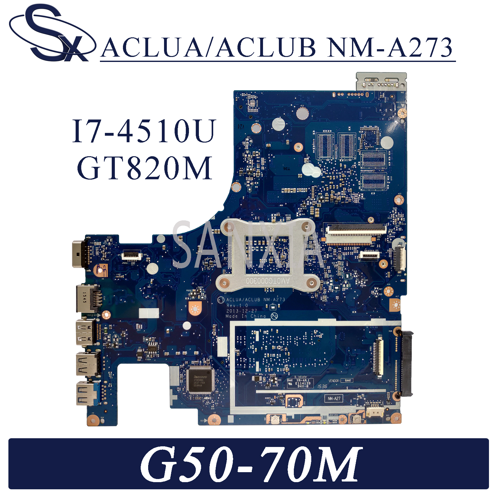 KEFU NM-A273 Laptop <font><b>motherboard</b></font> for <font><b>Lenovo</b></font> G50-70M <font><b>Z50</b></font>-<font><b>70</b></font> original mainboard I7-4510U GT820M image
