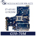 KEFU NM-A273 Laptop motherboard für Lenovo G50-70M Z50-70 original mainboard I7-4510U GT820M