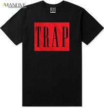 Red Trap T Shirt Urban Wear Crew Tee Hustle Dealer Gang Rap Music Pablo Ny La Sf High Quality Top 2019 Fashion
