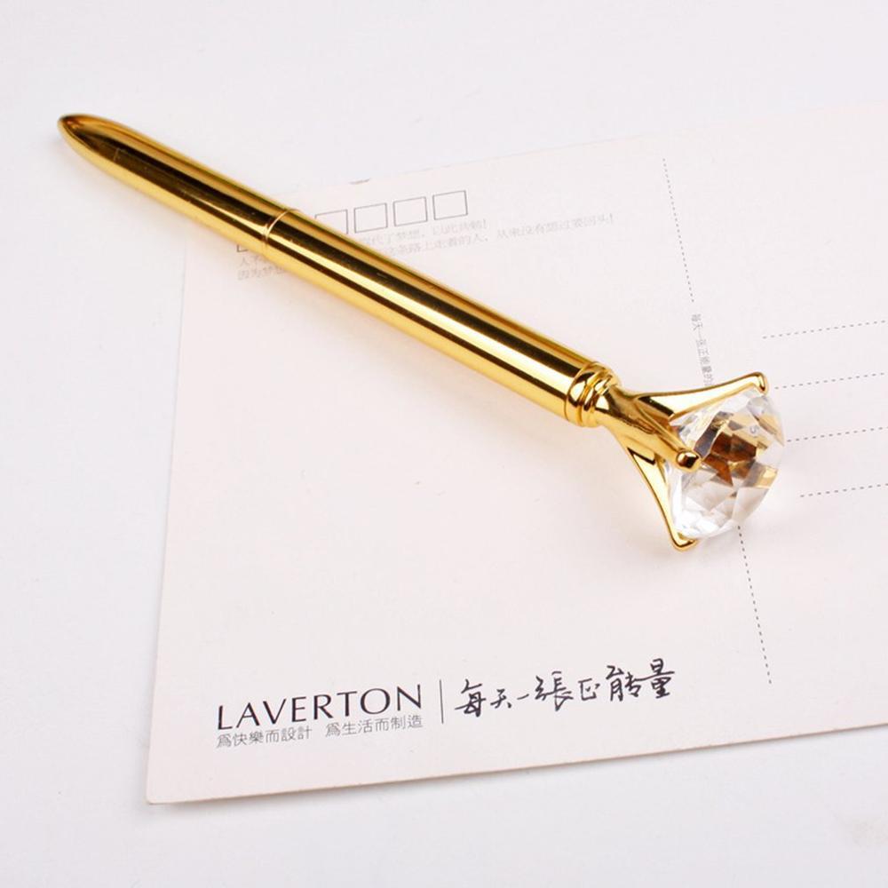 Портативная Оригинальная дизайнерская шариковая ручка со стразами, шариковые ручки, офисные и школьные принадлежности для студентов и дет...
