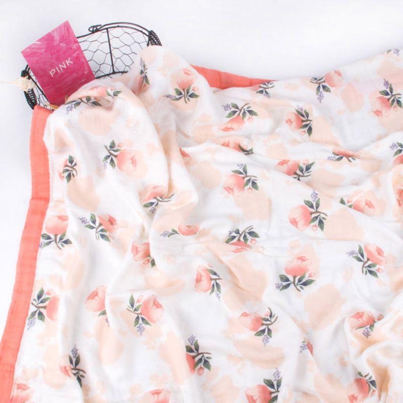 musselina bebe floral cobertor de bambu algodao 04