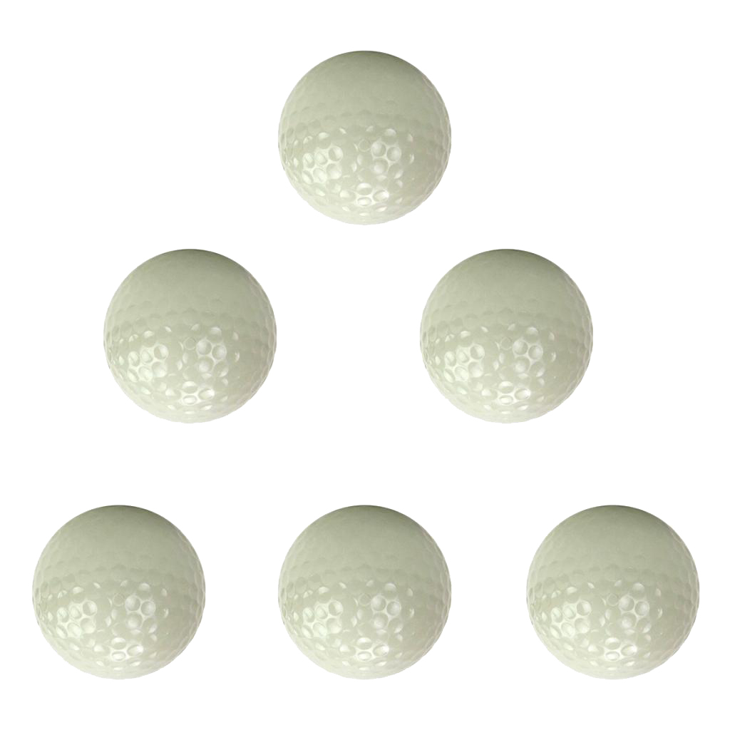 6pcs Night Golfing Luminous Golf Balls Fluorescent Long Lasting Bright Sunlight Glow Golf Club Accessory