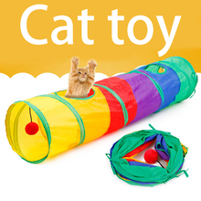 New Practical Cat Tunnel Pet Tube Collapsible Play Toy Indoor Outdoor Kitty Puppy Toys for Puzzle Exercising Hiding Training