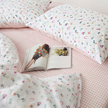 Милый американский кантри постельных принадлежностей для девочек-подростков, хлопок, двойной полный королева, цветочный домашний текстиль...