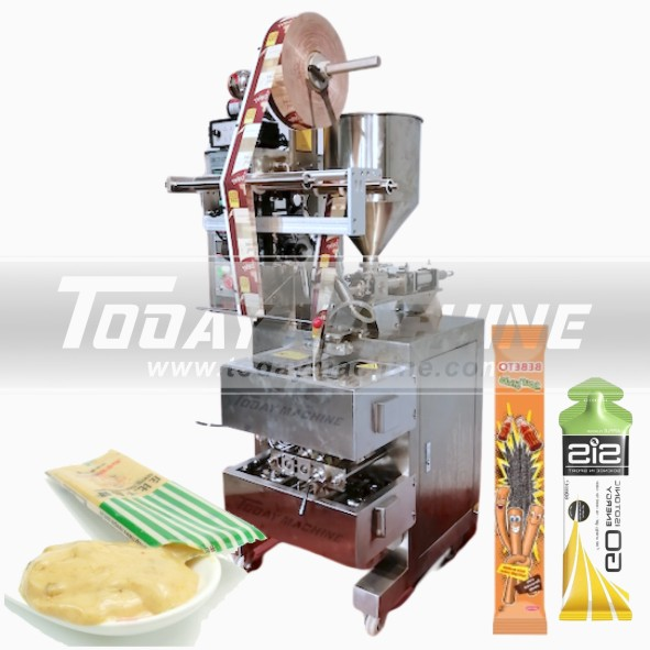 Купить с кэшбэком Shower Gel Sachet Filling Packing Machine Automatic Shampoo Lotion Liquid Stick Filling Machine/bulk Sachet Packaging Machine