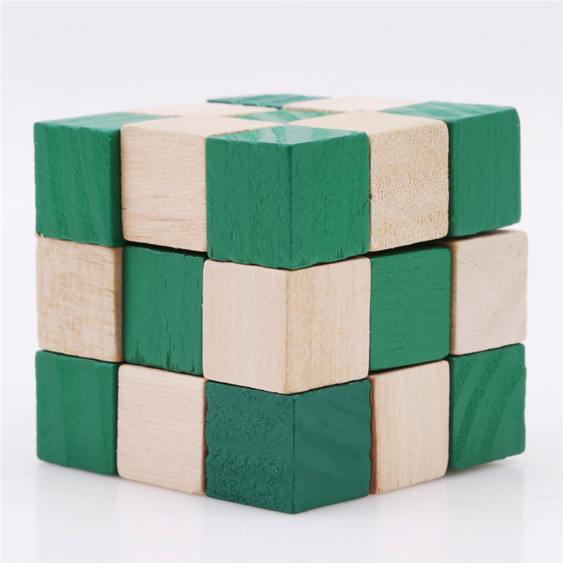 2019 27 Sections Magic Cube Wooden Snake Ruler Magic Snake Twist Puzzle Hot Selling Challenge IQ Brain Toys Classic Game