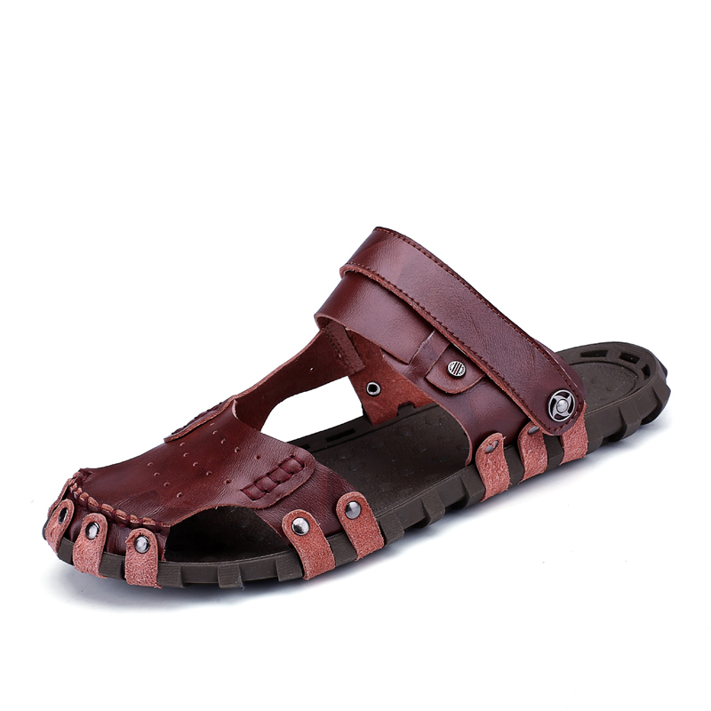 Trendy Models Men Sandals Waterproof Open Toe Comfort Sandals Men Plus Size Soft Men Sandals Leather Quality Outdoor Summer