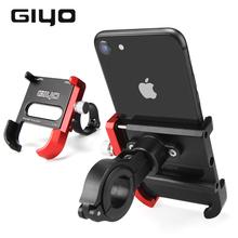 GIYO uchwyt na telefon rowerowy ze stopu aluminium do roweru szosowego i górskiego uchwyt zaciskowy na kierownicę do montażu na rowerze MTB uchwyt do smartfona tanie tanio CN (pochodzenie) Stojaki na rowery suits mobile phone width from 55-100mm Bicycle Phone Rack approx 120g G-001 Aluminum alloy