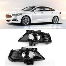 цена на 2Pcs Fog Light Lamp Grill Grille Cover Fit for Ford Fusion Mondeo 2013 2014 2015 DS73-19952CAW High Quality Plastic Gloss