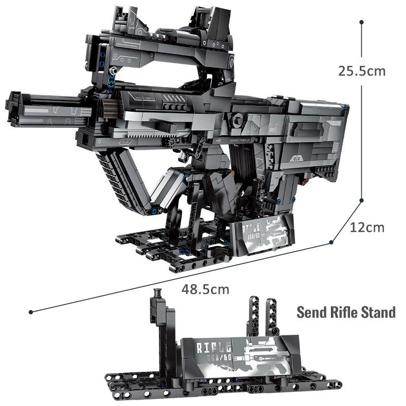 SEMBO Block City Police Weapon Technical Gun Building Blocks